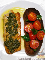 Рыба с маслом из каперсов и петрушки
