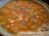 Суп с куриной грудкой и клецками
