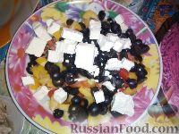 Греческий салат с красным луком