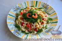 Салат из крабовых палочек и кальмаров