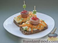 """Бутерброды """"Сардельки в ажуре"""" на праздничный стол"""