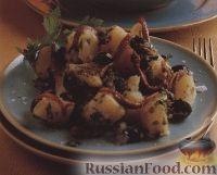 Картофельный салат с оливковой заправкой и анчоусами