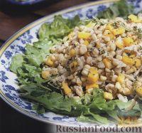 Кукурузный салат с крабовым мясом и манго