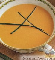 Суп-пюре с креветками и овощами