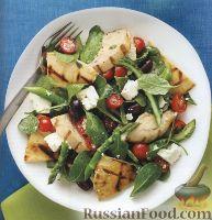 Салат из куриного филе с зеленью