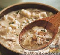 Куриный суп с клёцками