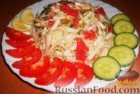 Салат из редьки с капустой и грейпфрутом