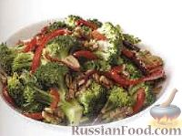 Рагу из брокколи и болгарского перца