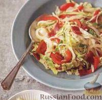 Соте из капусты и болгарского перца