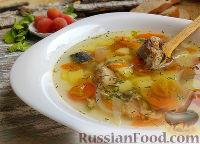 Суп из консервированной сардины, с помидорами