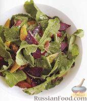 Свекольный салат с рукколой и апельсинами