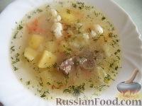 Суп из говядины, с цветной капустой