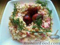 Настоящий салат из крабовых палочек