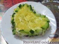 Салат с куриным филе и чесносливом