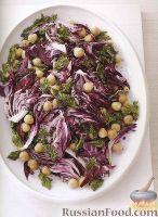 Салат из нута, радиччио и петрушки