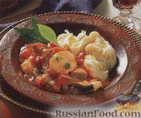Тушеная рыба с картофельным пюре