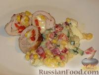 Конвертики из свинины с сыром и кукурузой