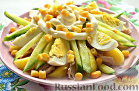 Салат из яиц, с курицей и картофелем
