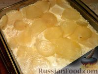 Картофель с яйцом и молоком
