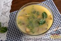 Сырный суп с мятой (в мультиварке)
