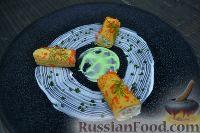 Рулетики из омлета, с сёмгой и сыром