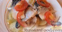 Скумбрия с картошкой, запеченная в духовке