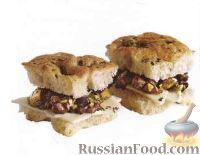 Бутерброды-канапе с оливками и сыром