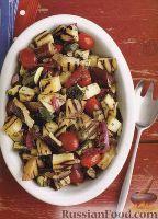 Салат из овощей, жаренных на гриле