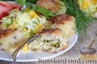 Зразы рыбные с сыром и яйцом