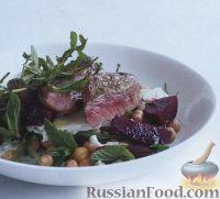 Салат с говяжьими стейками и зеленью