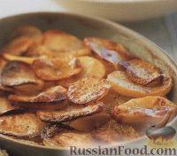Молодой картофель с луком, запеченный в духовке