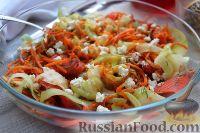 Закуска из кабачков с лососем и морковью