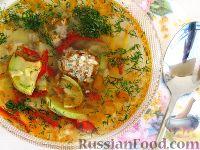 Суп с кабачками и тефтельками