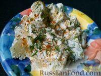 Острый картофельный салат (из молодого картофеля)
