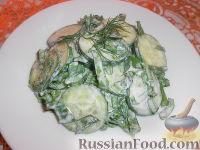 Салат из огурцов и щавеля