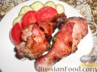 Куриный шашлык в маринаде из красной смородины