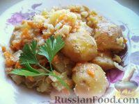 Овощное рагу из кабачков, картошки, цветной капусты
