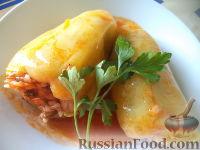 Болгарский перец, фаршированный рисом и грибами
