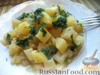 Рагу из картофеля и кабачка