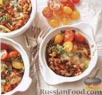 Рагу с перловкой, овощами, колбасой и грибами