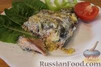 Горбуша под сметанно-грибным соусом (в фольге)