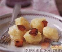 Картофельные ньоки с жареным салом