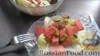 Салат из арбуза и мидий