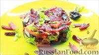 Свекольный салат с сухофруктами и орехами