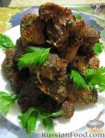 Шашлык в духовке, с кинзой, петрушкой и сельдереем