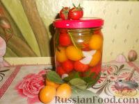 Маринованные помидоры с алычой (на зиму)