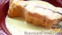 Семга, запеченная в духовке, со сливочным соусом