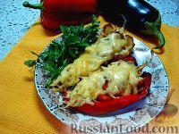 Запеченный перец, фаршированный овощами