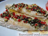 Жареная рыба с острым соусом