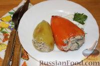 Перец, фаршированный тунцом и рикоттой